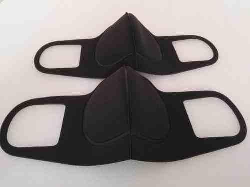 黑色海绵口罩的正确戴法