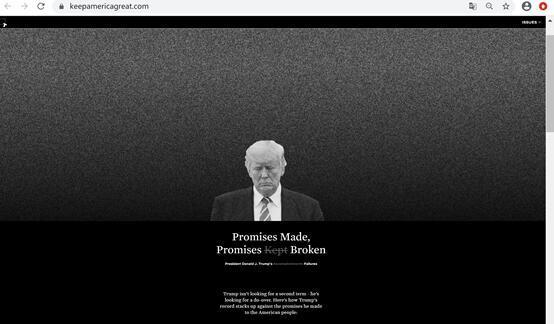 """拜登团队买下网站域名专批特朗普,拜登团队买下""""让美国保持伟大""""网站域名-第2张图片-免单网"""