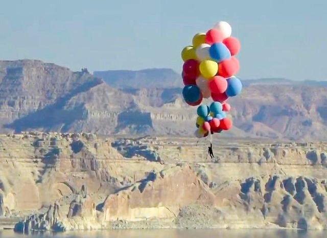 魔术师抓52个气球升至7500米高空,多少个气球可以把人带飞-第3张图片-免单网