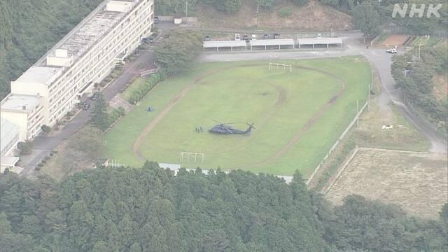 日本自卫队一黑鹰直升机发生故障