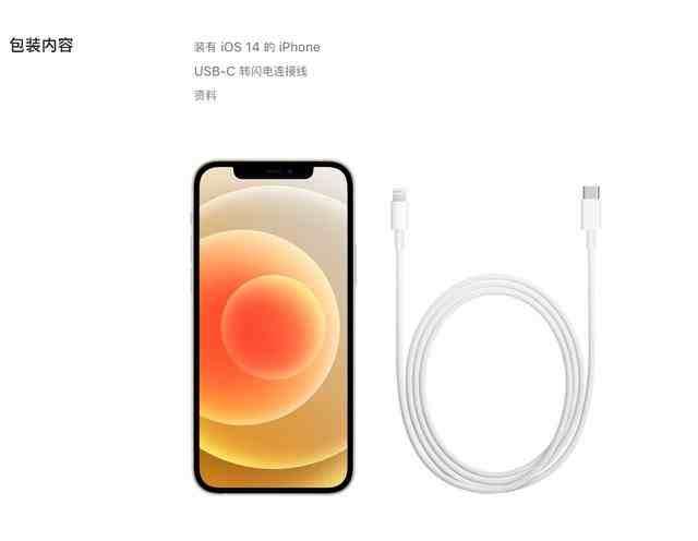 iPhone12系列不附赠耳机充电器