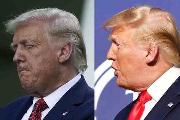 特朗普头发白了