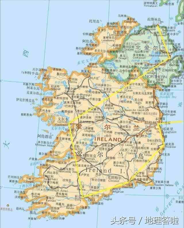 地理答啦:爱尔兰是怎样的一个国家?和英国有什么渊源?