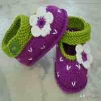 宝宝毛线鞋(小孩毛线鞋)