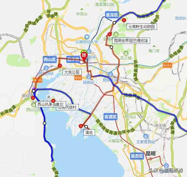 云南昆明十大景點有哪些?自駕游玩如何規劃行程路線?