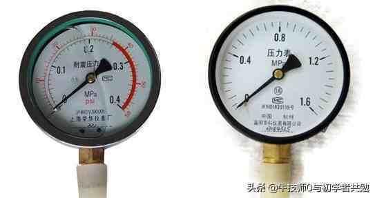 水压力表(压力表单位识读)